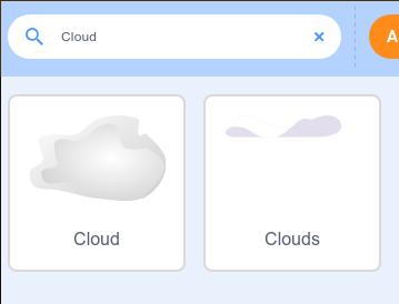 Två sprajtar som visar clouds efter man har sökt efter dem