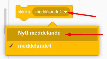 Scratch - skapa nytt meddelande