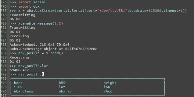GitHub - Korving-F/ublox: Python library for the UBX protocol