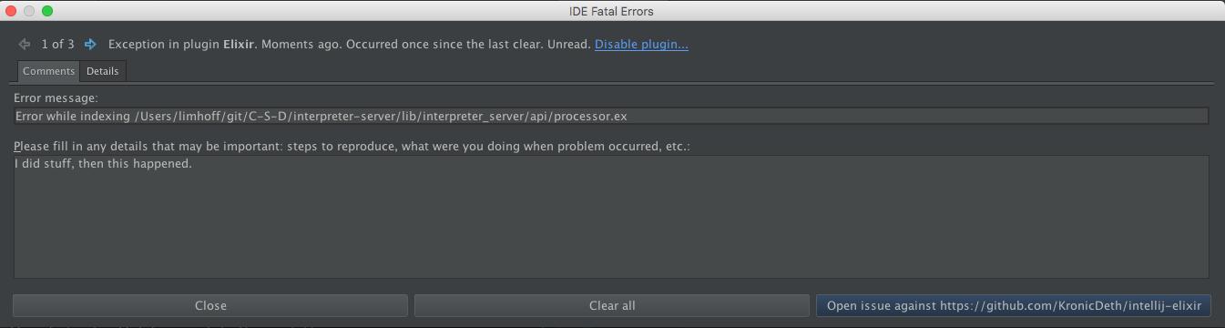 Fatal IDE Errors