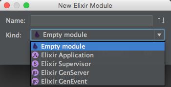 New > Elixir File > Kind