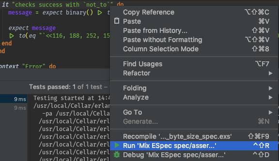 Run Mix ESpec