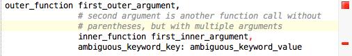 Ambiguous nested calls error