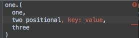 Keywords Not At End error
