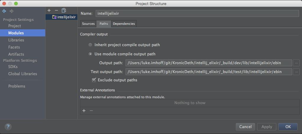 Module Settings > Paths