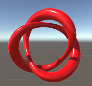 A loopy knotted shape.