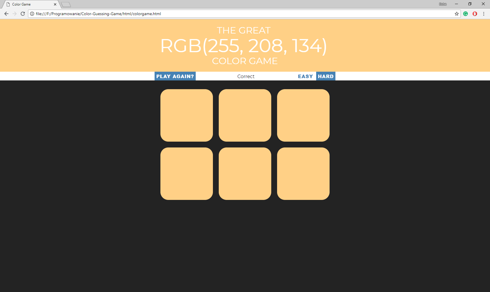 GitHub - KubaMikolajczyk/Color-Guessing-Game: Web game where you can ...