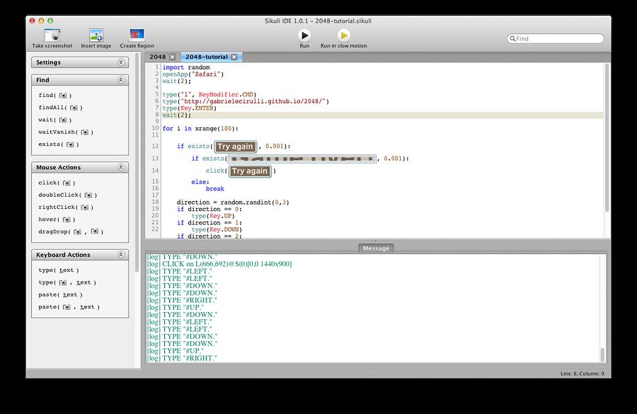 code in SikuliX-IDE