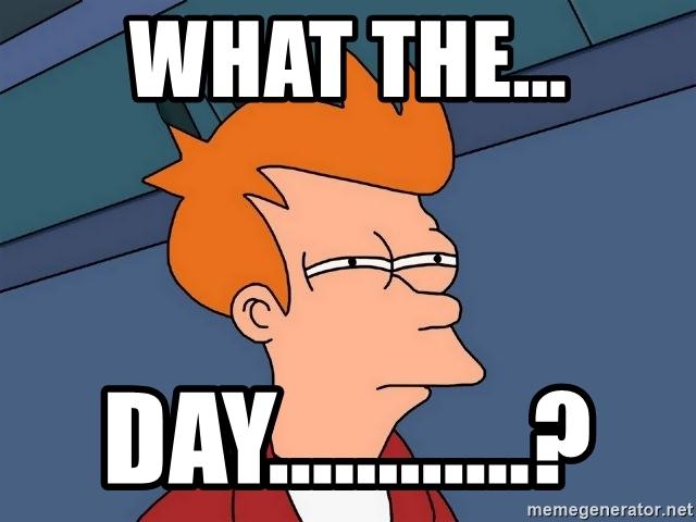 Futurama Fry Meme - What the... day...?