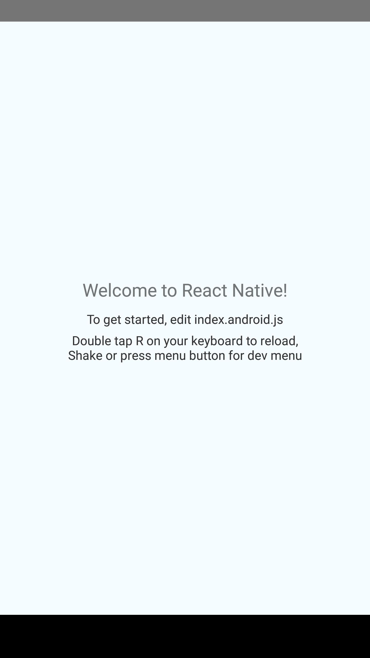 React Native tutorial Hello World