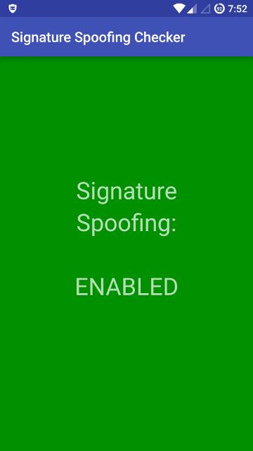 'Signature Spoofing Checker' app