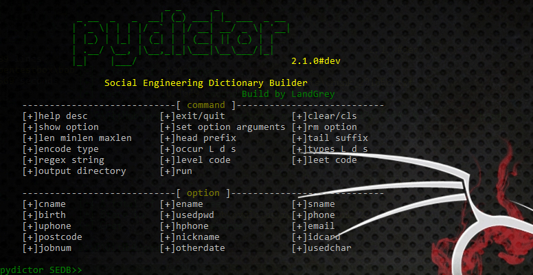 social engineering dictionary builder