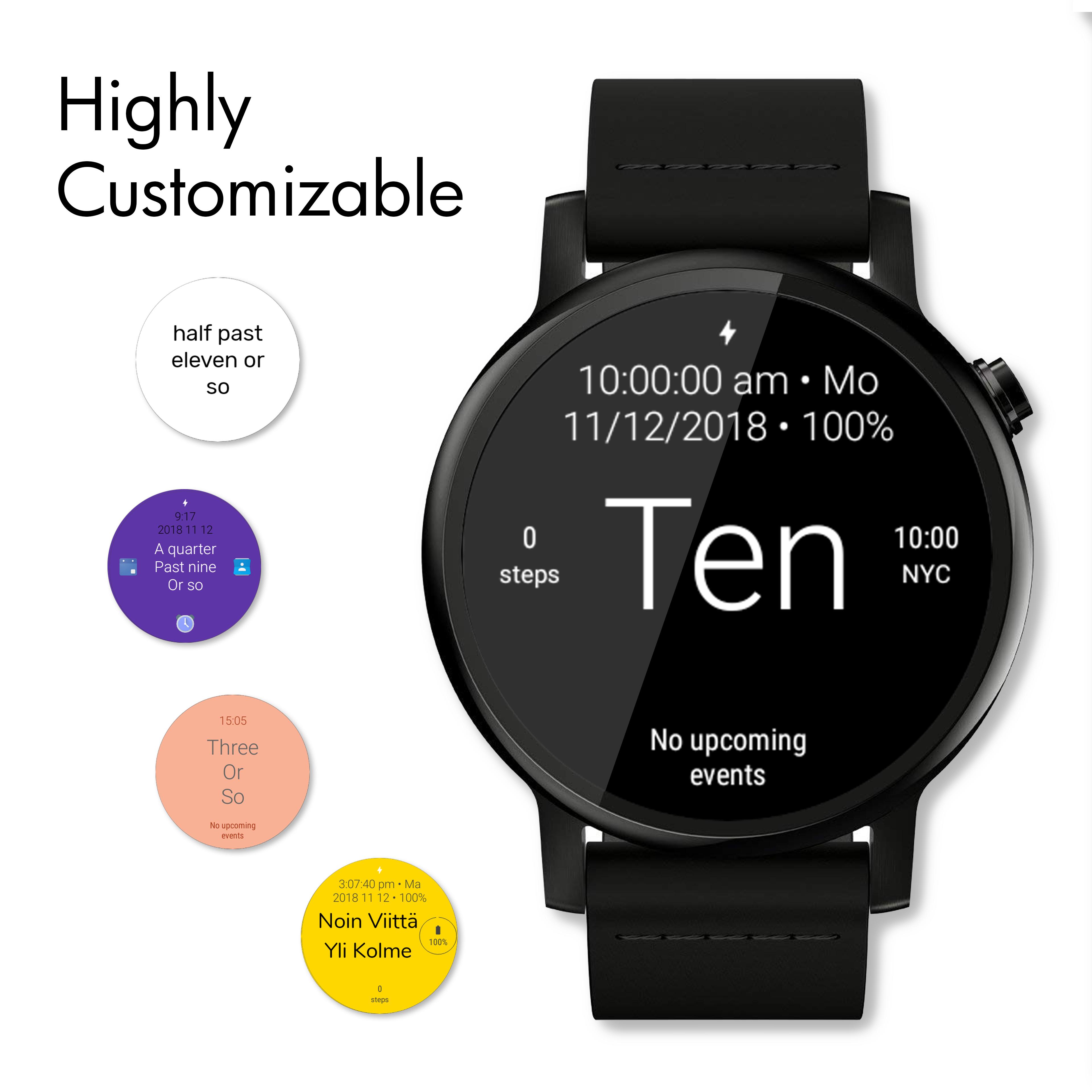 Twelveish Watch Face for Wear OS (Android Wear) - Screenshot1