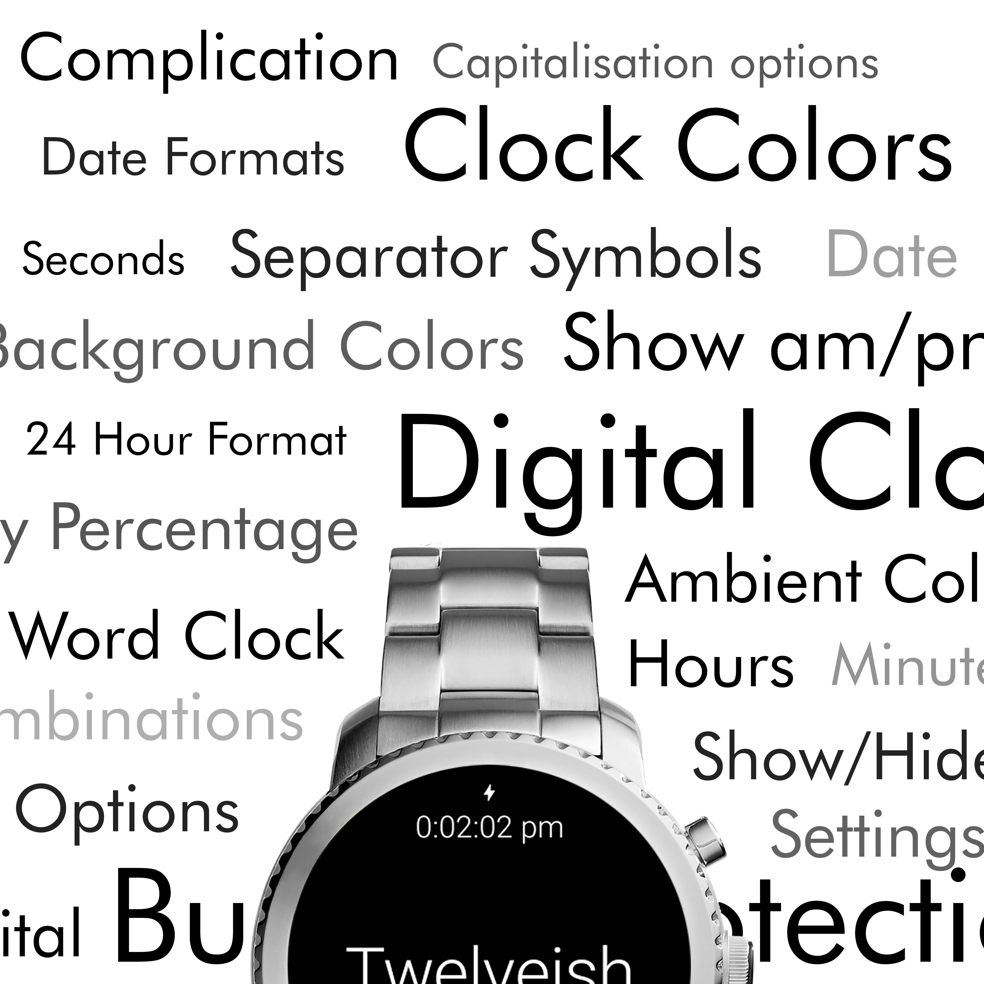 Twelveish Watch Face for Wear OS (Android Wear) - Screenshot3