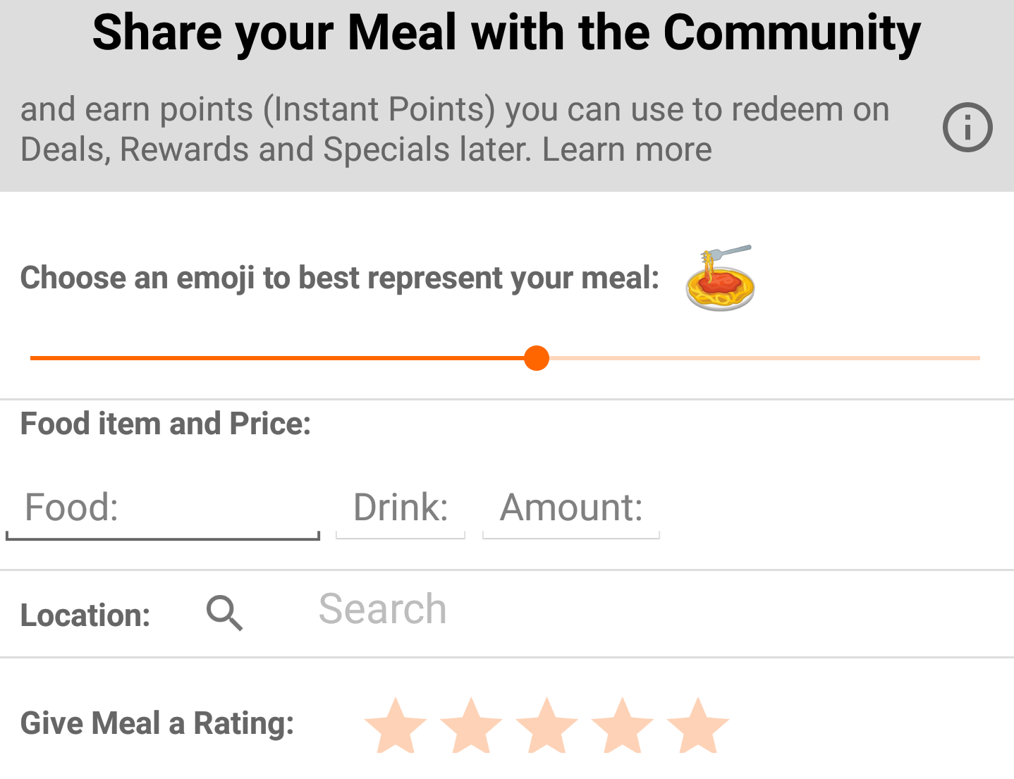 BudgEat's emoji slider is a new way to share meals