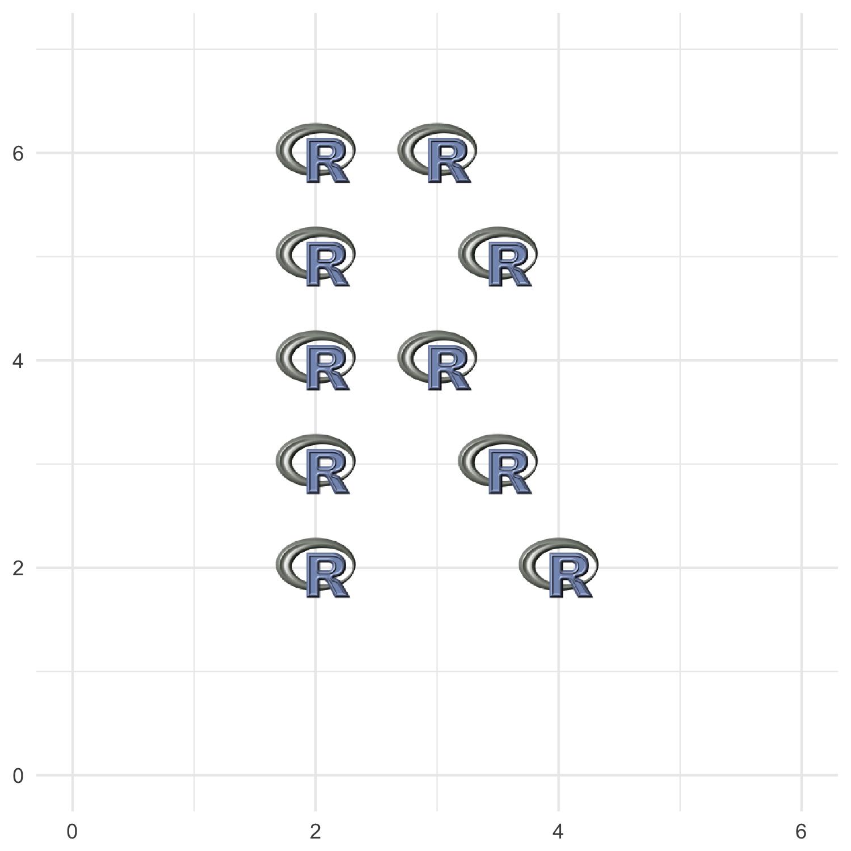 用R图标画R形状演示
