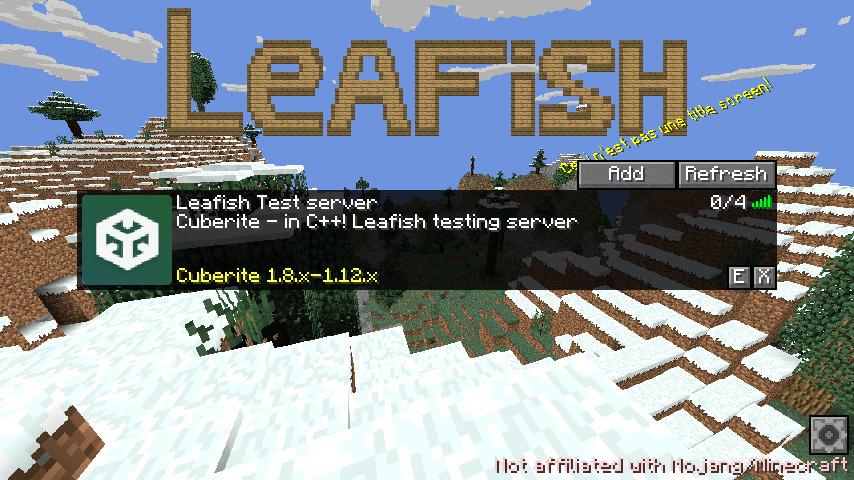 Screenshot showing the main menu