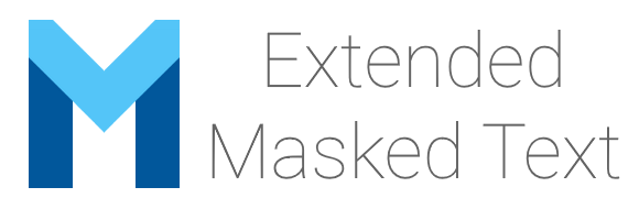 Extended Masked Text Logo