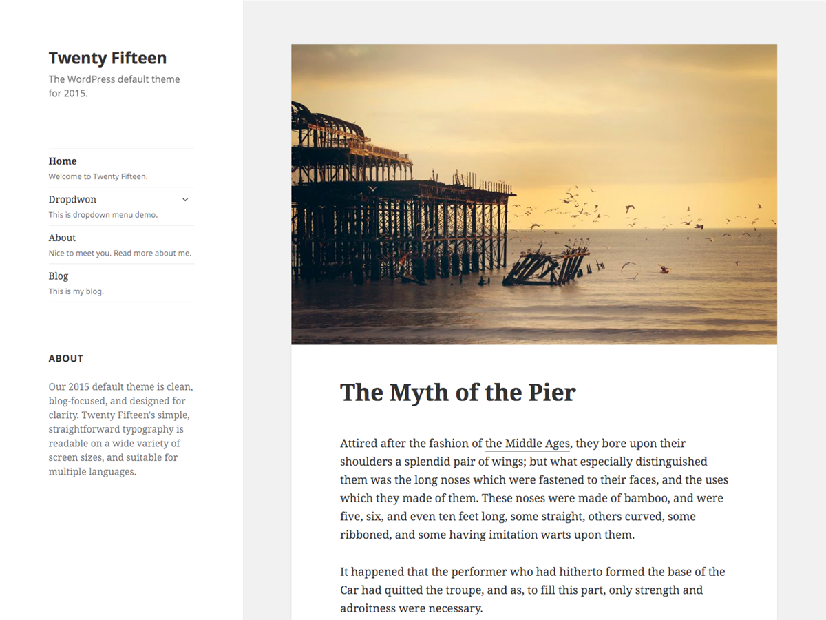 Twenty Fifteen Wordpress Theme for Jekyll