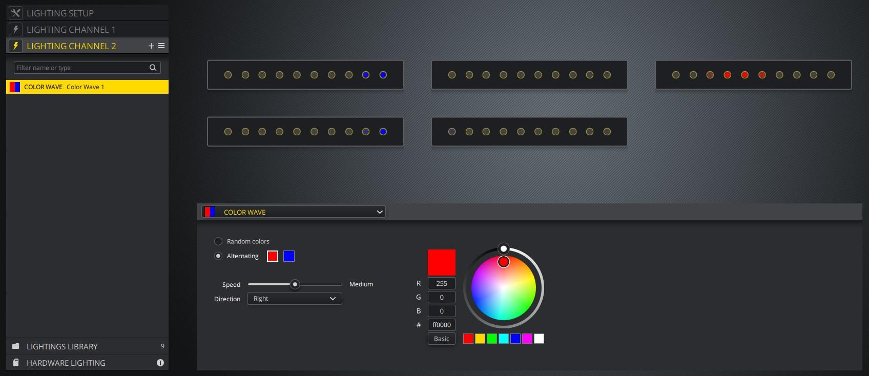 iCUE RGB Strip example