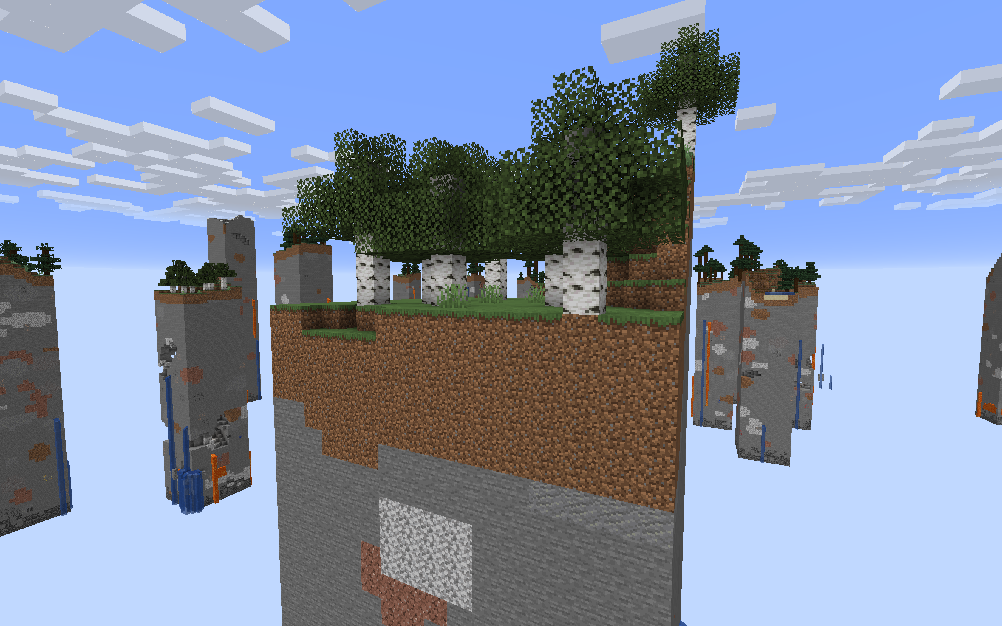 A preview of Skychunk world generation