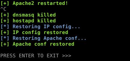 restore configuration files with CTRL-C