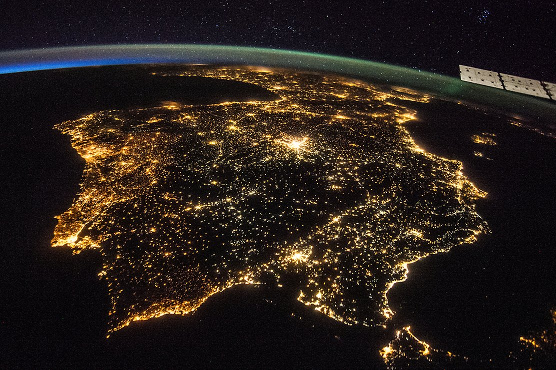 Spain in the night