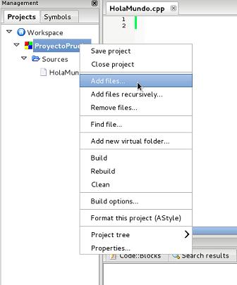 Añadir fichero existente 0
