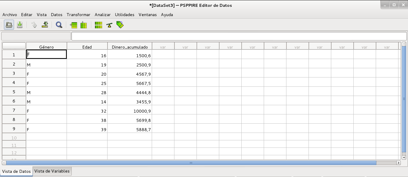 Datos importador