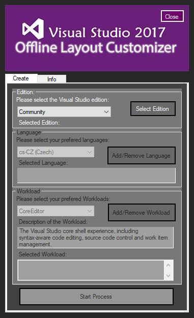 Visual Studio 2017 Offline Customizer