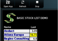 Basic Stock-List Demo