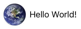 Hello world example layout