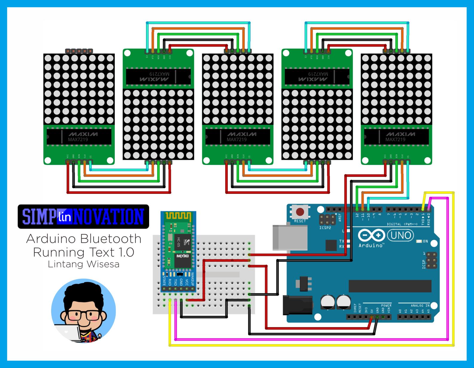 GitHub - LintangWisesa/Bluetooth-Running-Text-1 0: A simple Arduino