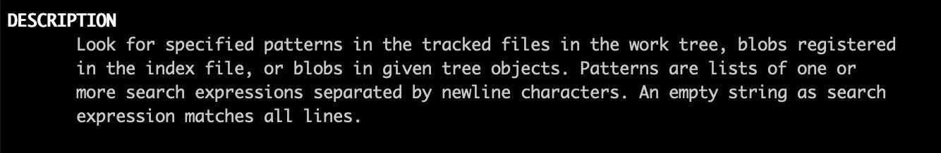 git-grep的man文档