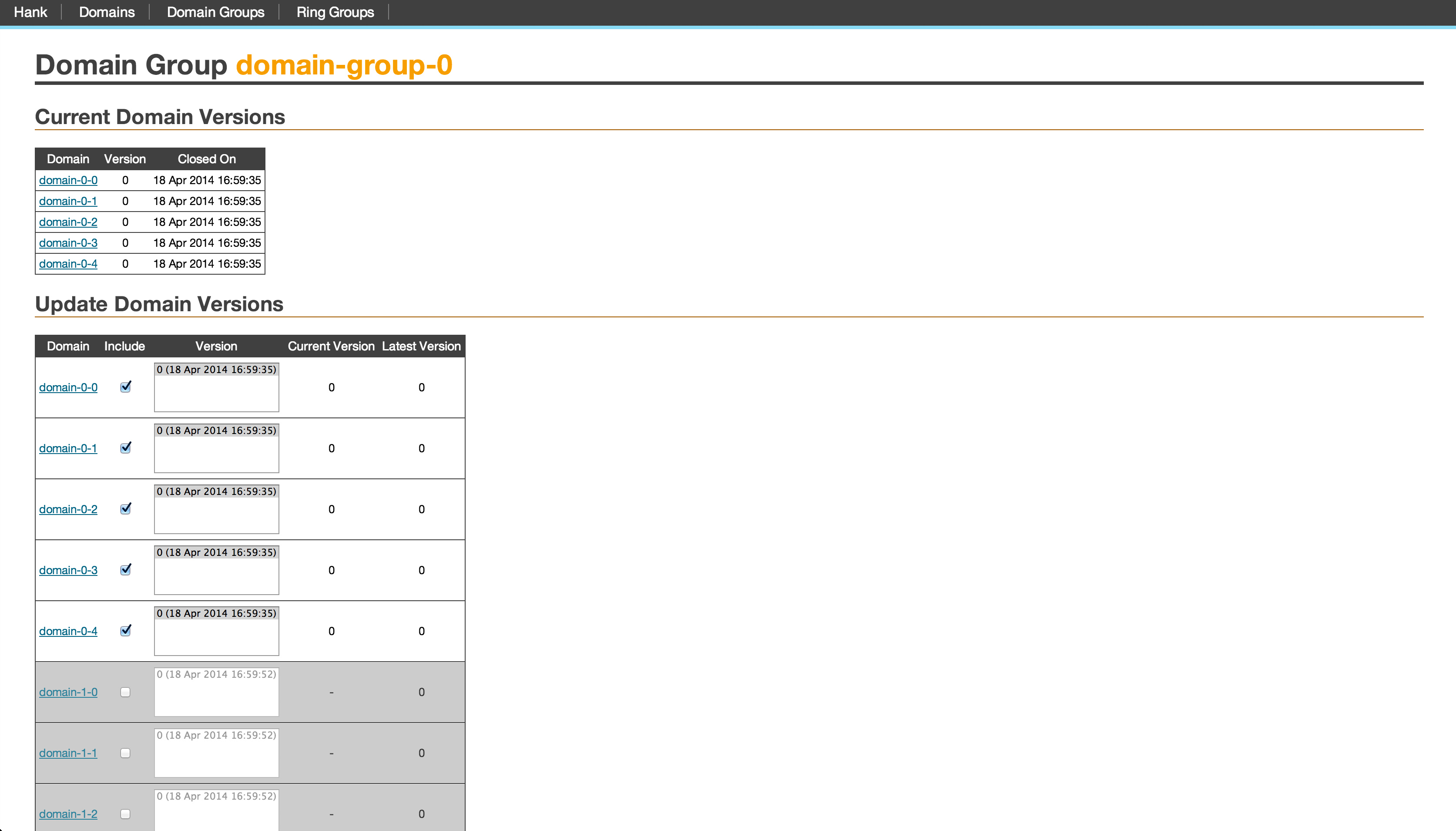 domain group screenshot