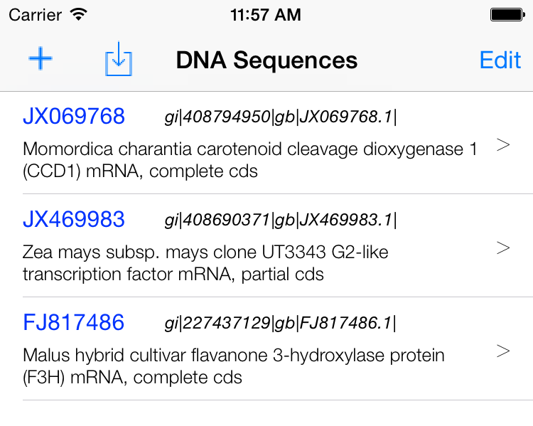 show DNA sequence