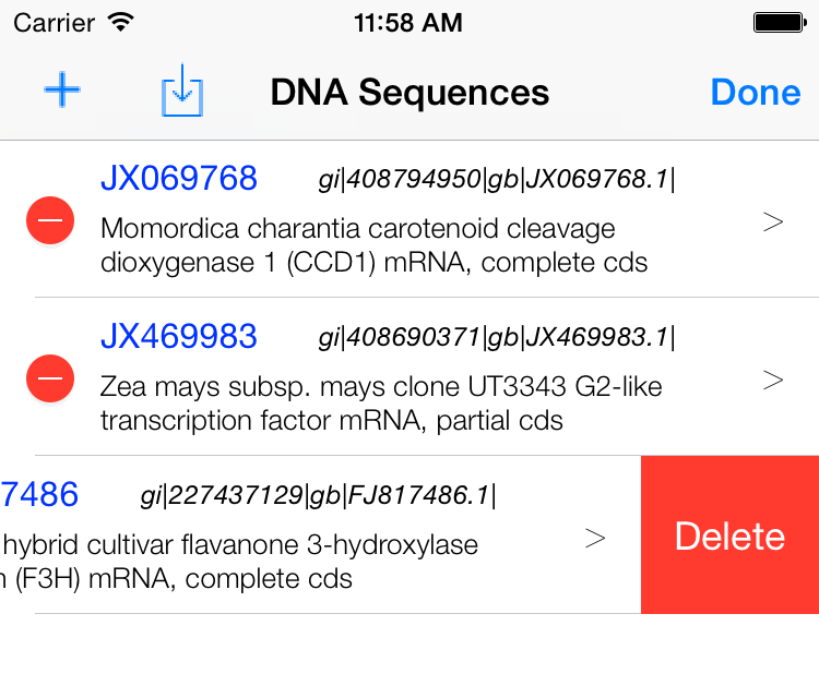 delete DNA sequence