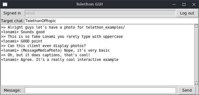Screenshot of the tkinter GUI