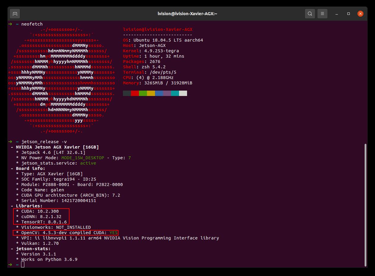 AGX Xavier JetPack 4.6 ALL Upgraded