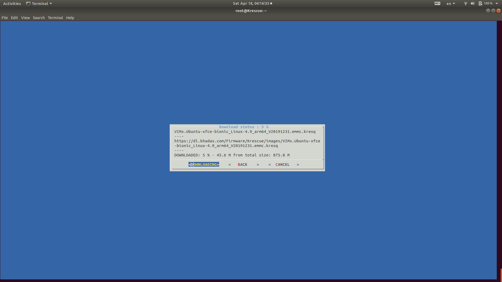 Start Downloading OS