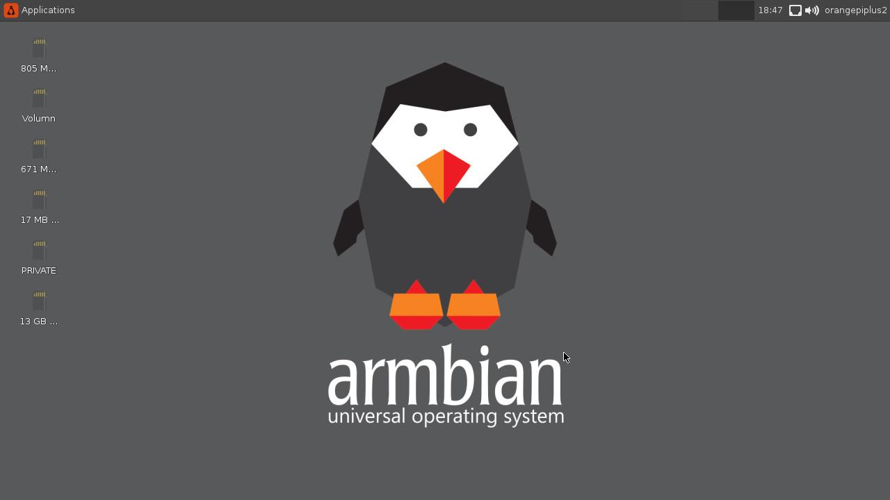 Armbian Ubuntu Desktop Overview