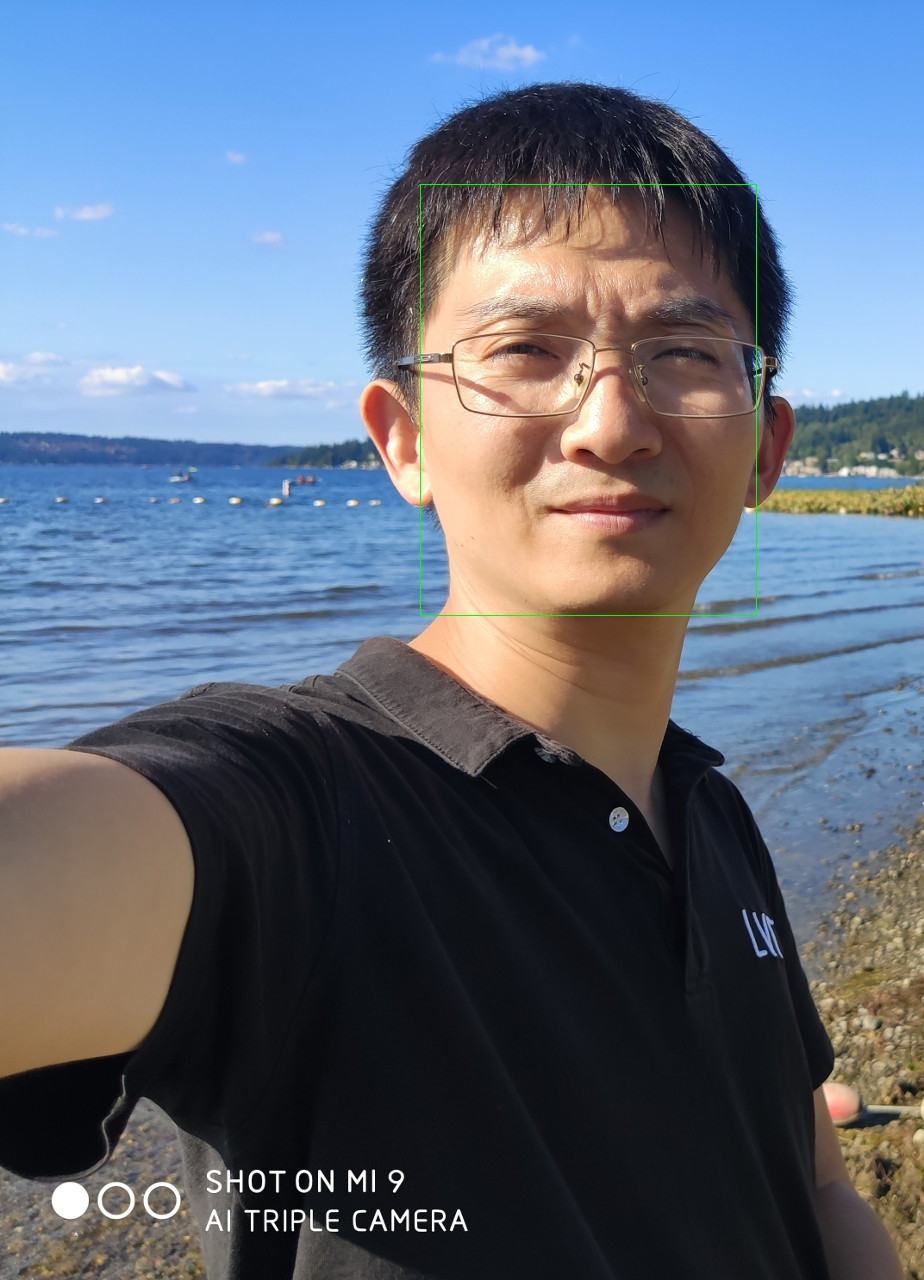 Me - Face Detection By OpenCV DNN NCS 1