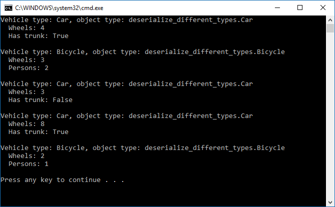 Deserializing different types based on properties, with Newtonsoft Json