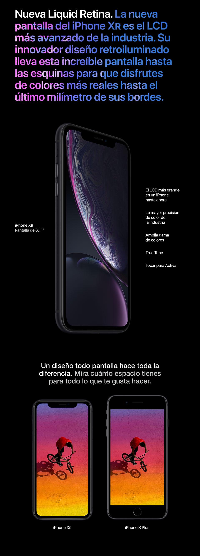 La nueva pantalla del iPhone Xr es el LCD más avanzado.