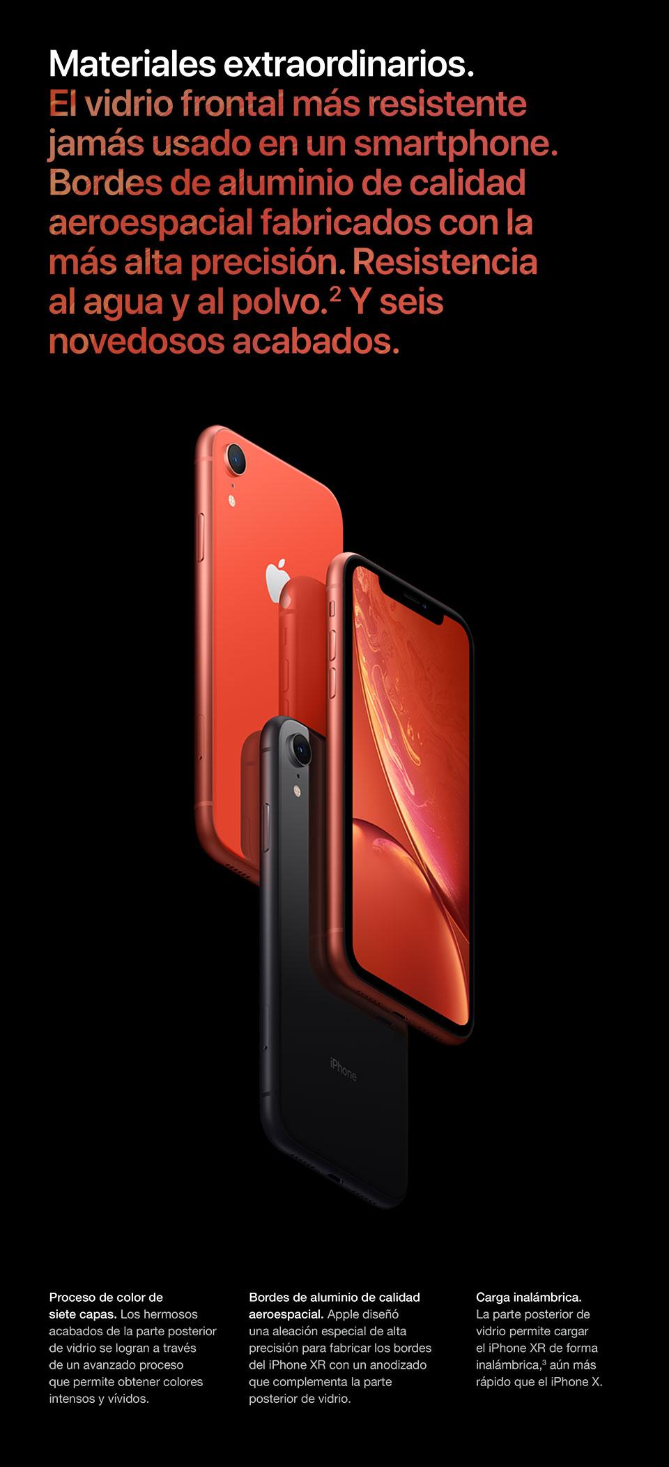 El vidrio frontal más resiste jamás usado en un smartphone.