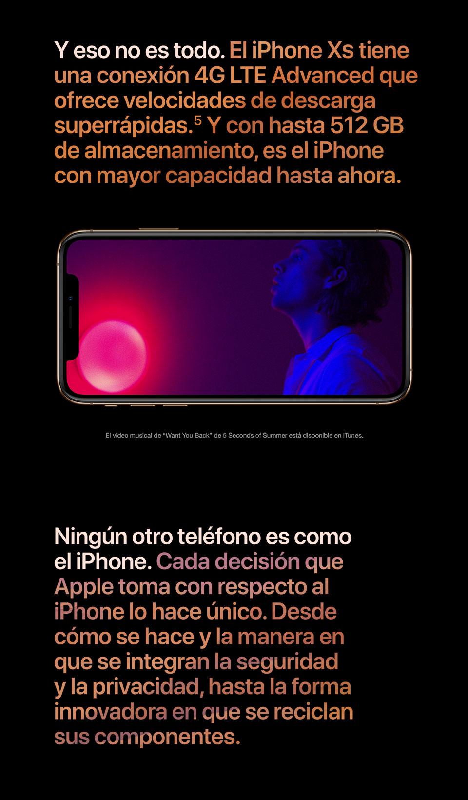 El iPhone Xs tiene una conexíon 4G LTE Advanced