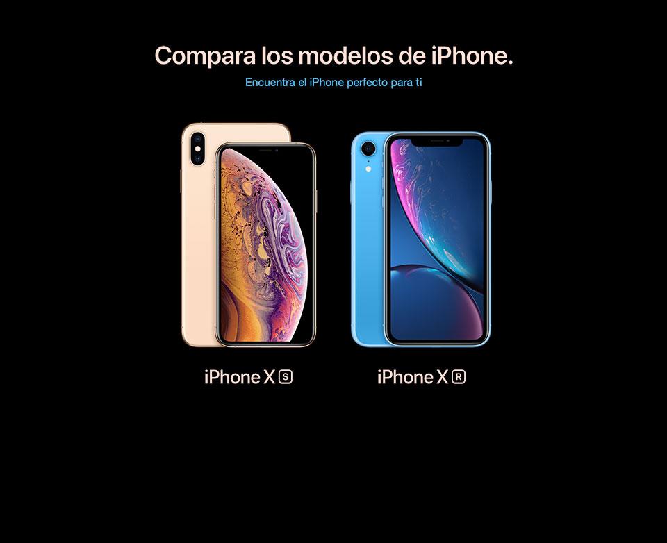 Compara los modelos de iPhone