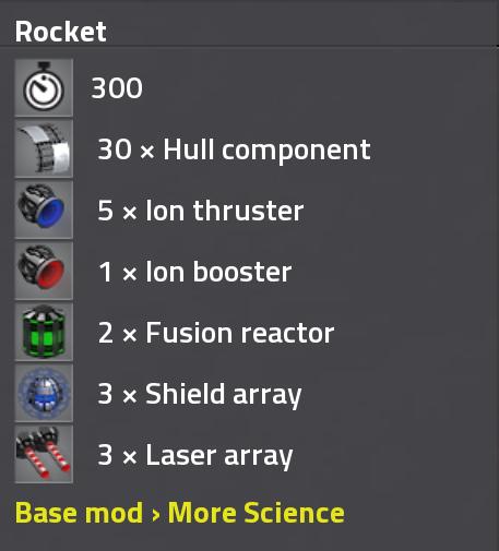 Rocket assembly recipe