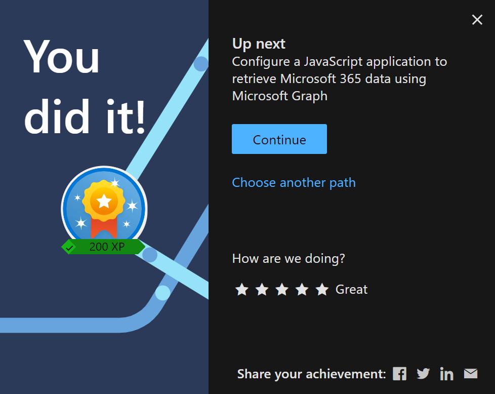 Microsoft Graph Fundamentals - You did it