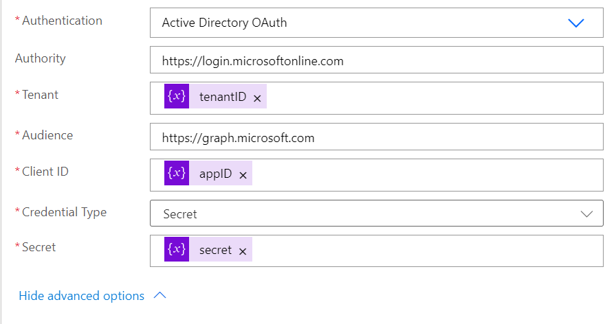 auth in HTTP request
